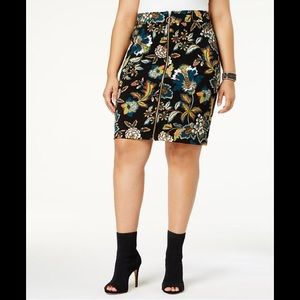 New Anna Sui I.N.C. Plus Size Printed Skirt Sz 18W